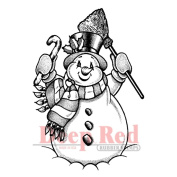 Deep Red Cling Stamp 5.1cm x 7.6cm -Frosty The Snowman