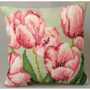 Tulipe A Droite Pillow Cross Stitch Kit-38cm - 1.9cm x 40cm