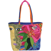 Shoulder Tote Zipper Top 48cm - 1.3cm x 18cm X15-1.3cm -Blossoming Spirit