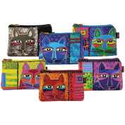 Cosmetic Bag Zipper Top Assortment 23cm - 0.6cm x 17cm -Whiskered Cats
