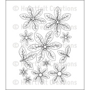 Heartfelt Creations Cling Rubber Stamp Set 13cm x 17cm -Christmas Poinsettia