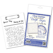 Katy Sue Designs Delft Style Clear Stamps 10cm x 15cm Sheet-Crackle Tile