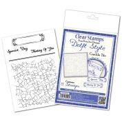 Katy Sue Designs Delft Style Clear Stamps 10cm x 15cm Sheet-Crackle Tile