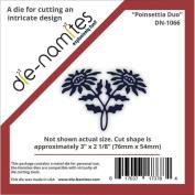 Die-Namites Die-Poinsettia Duo, 7.6cm x 5.4cm