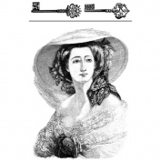 LaBlanche Silicone Stamp 10cm x 15cm -Madame Chloe and Keys