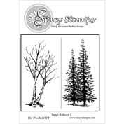 Stacy Stamps Cling Mounted Stamps 8.9cm x 5.1cm -The Woods