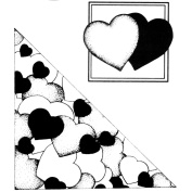 Stacy Stamps Cling Mounted Stamps 13cm x 13cm -Hearts