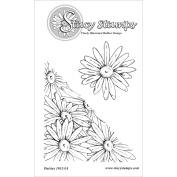Stacy Stamps Cling Mounted Stamps 7cm x 7cm -Daisies