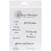 Stacy Stamps Cling Mounted Stamps 10cm x 10cm -Words I