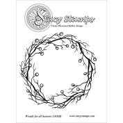 Stacy Stamps Cling Mounted Stamps 8.9cm x 8.9cm -Wreath For All Seasons