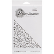 Stacy Stamps Cling Mounted Stamps 13cm x 13cm -Vine Dot Background