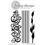Stacy Stamps Cling Mounted Stamps 11cm x 15cm -Borders I