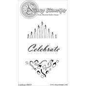 Stacy Stamps Cling Mounted Stamps 13cm x 20cm -Celebrate