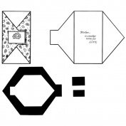 Clever Covers Template-Small - 7.6cm x 14cm & Large - 22cm x 10cm