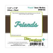 Die-Versions Sweet Wordlets Die-Friends, 4.4cm X.11110cm