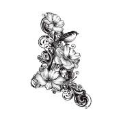 IndigoBlu Cling Mounted Stamp 18cm x 12cm -Clematis Flourish