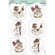 Elisabeth Bell Topper Sheet 21cm x 31cm -Christmas Angels