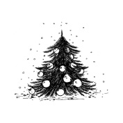 IndigoBlu Cling Mounted Stamp 7.6cm x 7.6cm -Ickle Christmas Tree - Dinkie
