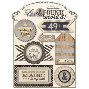 Lost & Found Record It! Layered Stickers-Antique