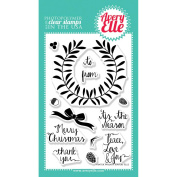 Avery Elle Clear Stamp Set 10cm x 15cm -Winter Wreath