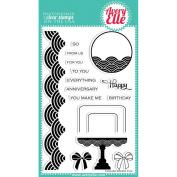 Avery Elle Clear Stamp Set 10cm x 15cm -Fanfare