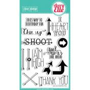 Avery Elle Clear Stamp Set 10cm x 15cm -Aim High