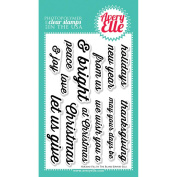 Avery Elle Clear Stamp Set 10cm x 15cm -Holiday Fill In The Blank
