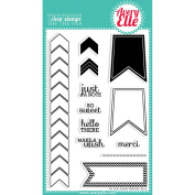 Avery Elle Clear Stamp Set 10cm x 15cm -To The Point