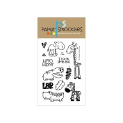 Paper Smooches 10cm x 15cm Clear Stamps-Zoo Crew