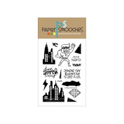 Paper Smooches 10cm x 15cm Clear Stamps-Super