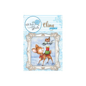Wild Rose Studio Ltd. Cling Stamp 7.6cm x 8.9cm Sheet-Bluebell W/Saddle