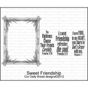 Our Daily Bread Cling Rubber Stamp 18cm x 13cm -Sweet Friendship