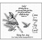 Our Daily Bread Cling Rubber Stamp 18cm x 13cm -Sing For Joy