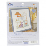 Cuteasaurus Birth Record Counted Cross Stitch Kit-25cm x 33cm 14 Count