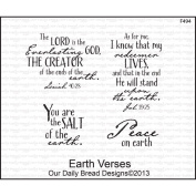Our Daily Bread Cling Rubber Stamp 13cm x 17cm -Earth Verses