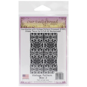 Our Daily Bread Cling Rubber Stamp 18cm x 13cm -Vintage Pattern Mini 2