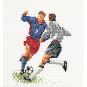 Football (Soccer) On Linen Counted Cross Stitch Kit-15cm - 0.6cm x 17cm 36 Count