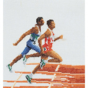 Athlete (Runners) On Linen Counted Cross Stitch Kit-15cm - 0.6cm x 17cm 6 Count