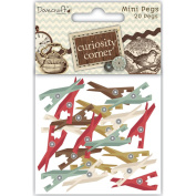 Curiosity Corner Mini Wooden Pegs-Assorted Colour Clothespins