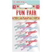 Helz Fun Fair Mini Wooden Pegs-Assorted Colour Clothespins