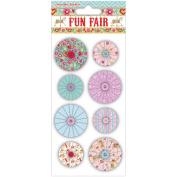 Helz Fun Fair Accordion Stickers-Flowers