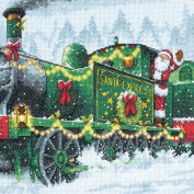 Santa Express Counted Cross Stitch Kit-25cm x 25cm 14 Count