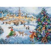 Gold Collection Winter Celebration Counted Cross Stitch Kit-41cm x 30cm 16 Count