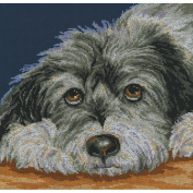 Dog Melancholy Counted Cross Stitch Kit-28cm - 1.3cm x 29cm 14 Count