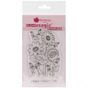 Woodware Clear Stamps 14cm x 8.9cm Sheet-Spring Flowers Bouquet