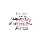 Woodware Clear Stamps 6.4cm x 4.4cm Sheet-Happy Mother's Day