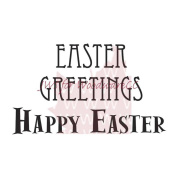 Woodware Clear Stamps 6.4cm x 4.4cm Sheet-Easter Greetings