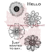 Woodware Clear Stamps 14cm x 8.9cm Sheet-Mini Flowers