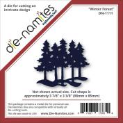 Die-Namites Die-Winter Forest, 9.8cm x 8.6cm