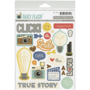 Daily Flash Snapshots Double Take Stickers-Shapes & Labels